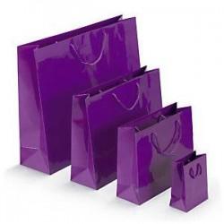 Sac pelliculé violet 30x25...