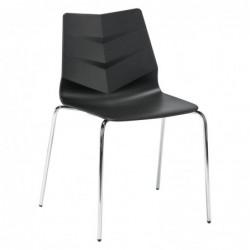 Chaise noire KLASS ONE -...
