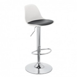 Tabouret Kocy blanc coussin...