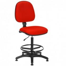 Siège Office tissu rouge -...