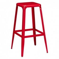 Tabouret rouge Metalo -...