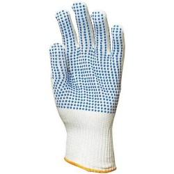 Gants nylon picots bleus