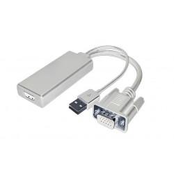 Adaptateur VGA+USB M vers...